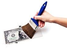 притяжка доллара стоковое изображение rf