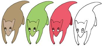 Притяжка руки коалы чудовища doodle цвета мультфильма печати смешная установленная бесплатная иллюстрация