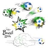 Притяжка руки футбола Иллюстрация штока