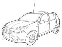 Притяжка современного автомобиля техническая Стоковые Фотографии RF