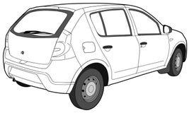 Притяжка современного автомобиля техническая Стоковые Фото
