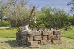 Притяжка хорошо фермы стоковая фотография rf