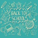Притяжка Doodle назад к школе Стоковая Фотография