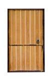 Прифронтовое изображение закрытой изолированной двери Стоковые Изображения
