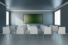 Прифронтовой взгляд в комнате тренировки Стоковое Изображение