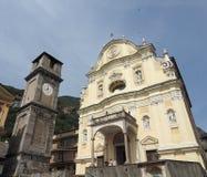 Приходская церковь в Quincinetto Стоковое Фото
