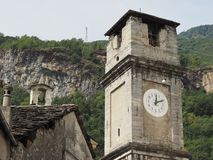 Приходская церковь в Quincinetto Стоковые Изображения RF
