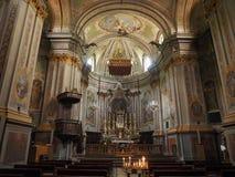Приходская церковь в Quincinetto Стоковое фото RF