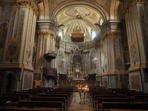 Приходская церковь в Quincinetto Стоковые Изображения