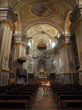 Приходская церковь в Quincinetto Стоковые Фотографии RF