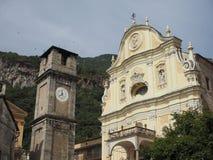 Приходская церковь в Quincinetto Стоковые Фото
