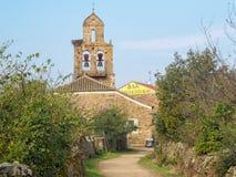 Приходская церковь - Санта Каталина de Somoza стоковое изображение rf