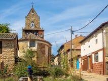 Приходская церковь - Rabanal del Camino стоковое фото