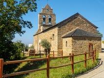 Приходская церковь - Riego de Ambros стоковая фотография