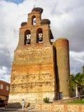 Приходская церковь - Villar de Mazarife стоковая фотография