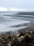 приходя, котор замерли пурга моря Стоковая Фотография