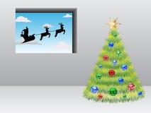 приходя s santa бесплатная иллюстрация