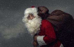 приходя santa Стоковая Фотография RF