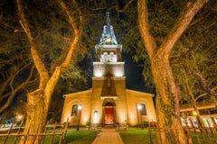 Приход Святой Анны вечером, в Аннаполисе, Мэриленд стоковое фото