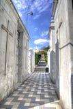 Прихожая и шаги кладбища Стоковое Фото