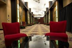 Прихожая лобби роскошной гостиницы стоковые изображения rf