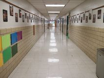 Прихожая начальной школы стоковая фотография