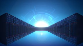 Прихожая серверов башни стоковое фото