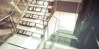 Прихожая. Современный интерьер офиса, лестницы, чистый космос в деле Стоковые Фото
