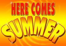 приходит здесь лето Стоковые Фотографии RF