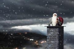 приходя santa Мультимедиа Стоковые Фотографии RF