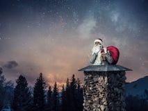 приходя santa Мультимедиа Стоковые Фото