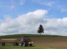 Прицеп для трактора стоковое фото rf