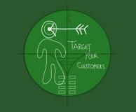 Прицельтесь ваши клиенты иллюстрация штока