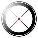 Прицельтесь метка, перекрестие, значок перекрещения с красной точкой Стоковые Изображения RF