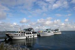 причаленные яхты мотора Стоковое Изображение