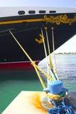 причаленный корабль Стоковые Изображения