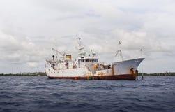 причаленный корабль Стоковое Изображение