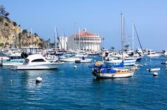 Причаленный остров Санта Catalina яхт стоковое изображение