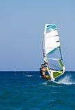 причаливая быстрый windsurfer Стоковое фото RF
