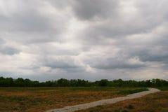 причаливая лето шторма Стоковая Фотография