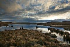 причалите восход солнца Шотландии Стоковая Фотография