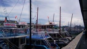 Причал в заливе Halong Стоковое Изображение RF