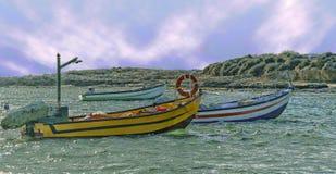 Причал рыболовов стоковое изображение rf