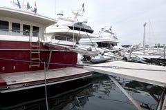 причаленные яхты Стоковая Фотография