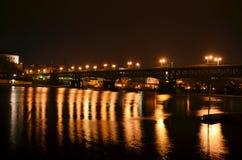 причаленный взгляд корабля порта ночи Стоковые Фото