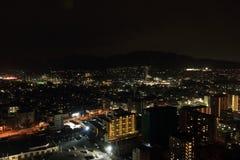 причаленный взгляд корабля порта ночи Стоковые Фотографии RF