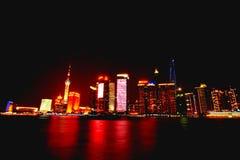 причаленный взгляд корабля порта ночи Стоковые Изображения