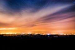 причаленный взгляд корабля порта ночи Стоковые Изображения RF