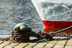 причаленный корабль Стоковые Фото