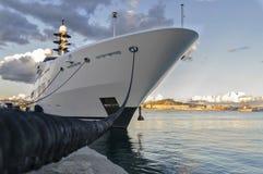 Причаленный корабль Стоковая Фотография